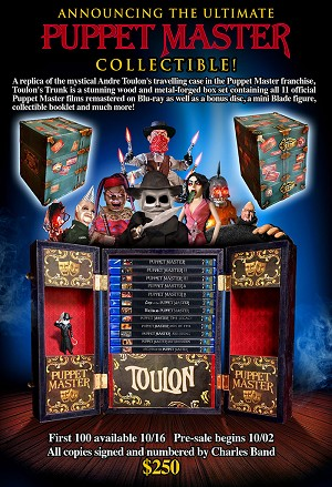 The Ultimate Puppet Master Collectable Trunk (signed by Charles Band)