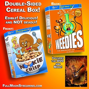 Nookie Crisp/Weedies Double-Sided Cereal Box
