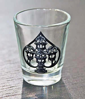 Haunted Casinos Shot Glass, (Spades)