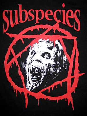 Subspecies Classic t-shirt (Unisex sizes, for Men or Women.)