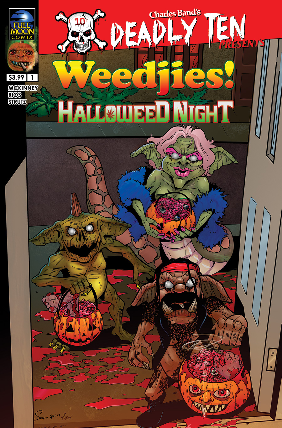 Deadly Ten Presents #2: Weedjies! Halloweed Night (Sergio Rios cover)