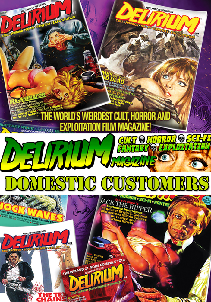 Delirium Magazine 1 Year Subscription: RENEWAL (DOMESTIC ONLY)