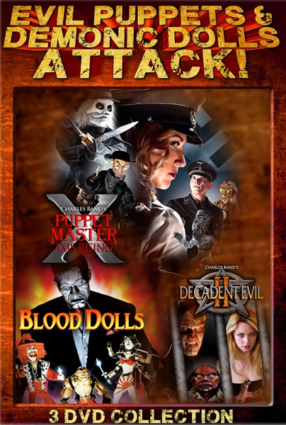 Evil Puppets and Demonic Dolls Attack 3 DVD Slimline Set