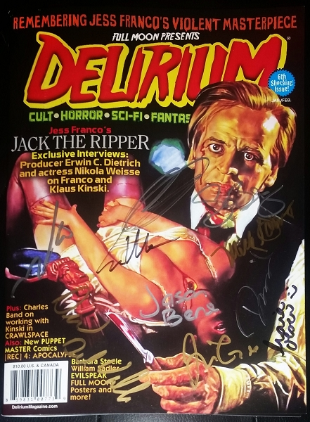 SIGNED Delirium Magazine Issue #6