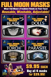 Full Moon Masks: 4 PACK (Blade, Dolls, Parasite, Torch)
