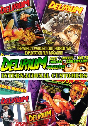 Delirium Magazine 1 Year Subscription: RENEWAL (INTERNATIONAL ONLY)