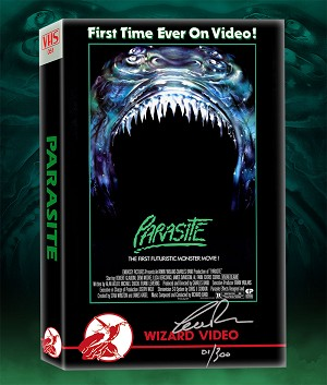 Parasite Big Box VHS (signed/numbered)