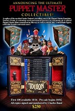 The Ultimate Puppet Master Collectable Trunk signed by Charles Band