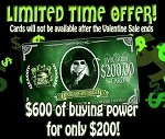 The EVER-GREEN Card! (HURRY, offer ends SOON!)